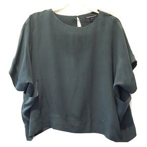 French connection loose fitted silk blouse